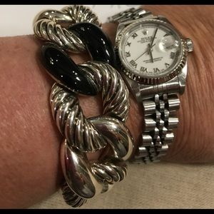 "David Yurman Belmont Curb Link Bracelet 8"""